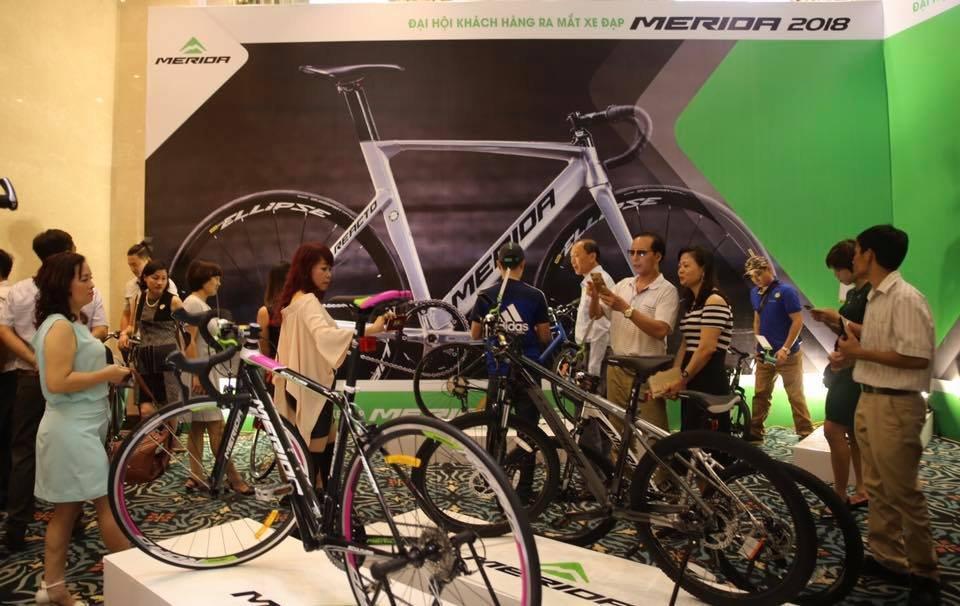 Hội nghị ra mắt xe đạp Merida tại Hà Nội, thành phố Hồ Chí Minh